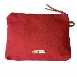 Lucky Brand Red Clutch Pouch Cosmetic Bag